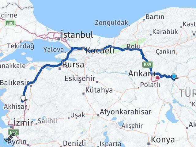 Kırıkkale Soma Manisa Arası Kaç Km? - Kmhesaplama.com Arası Kaç Km Saat? Nerede Yol Haritası Yakıt, Rota ve Mesafe Hesaplama