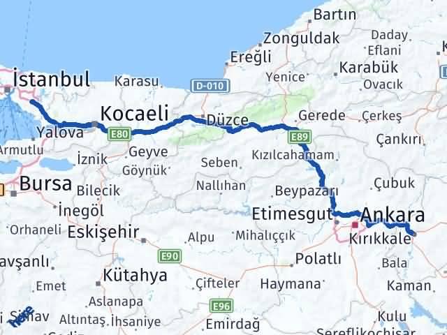 Kırıkkale Sultanbeyli İstanbul Arası Kaç Km? Arası Kaç Km Saat? Nerede Yol Haritası Yakıt, Rota ve Mesafe Hesaplama