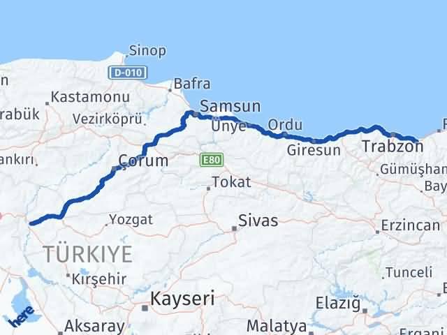 Kırıkkale Sürmene Trabzon Arası Kaç Km? - Kmhesaplama.com Arası Kaç Km Saat? Nerede Yol Haritası Yakıt, Rota ve Mesafe Hesaplama