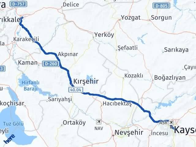Kırıkkale Talas Kayseri Arası Kaç Km? - Kmhesaplama.com Arası Kaç Km Saat? Nerede Yol Haritası Yakıt, Rota ve Mesafe Hesaplama