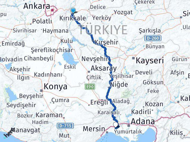 Kırıkkale Tarsus Mersin Arası Kaç Km? - Kmhesaplama.com Arası Kaç Km Saat? Nerede Yol Haritası Yakıt, Rota ve Mesafe Hesaplama
