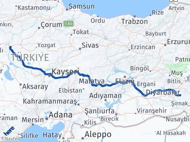 Kırıkkale Tillo Siirt Arası Kaç Km? - Kmhesaplama.com Arası Kaç Km Saat? Nerede Yol Haritası Yakıt, Rota ve Mesafe Hesaplama