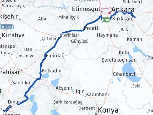 Kırıkkale Uluborlu Isparta Arası Kaç Km? - Kmhesaplama.com Arası Kaç Km Saat? Nerede Yol Haritası Yakıt, Rota ve Mesafe Hesaplama