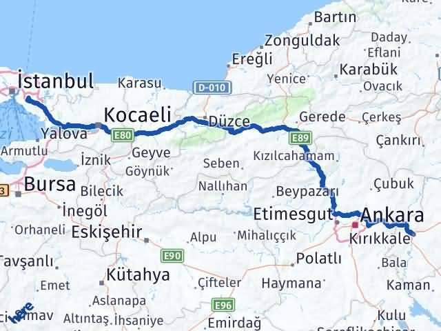 Kırıkkale Ümraniye İstanbul Arası Kaç Km? - Kmhesaplama.com Arası Kaç Km Saat? Nerede Yol Haritası Yakıt, Rota ve Mesafe Hesaplama