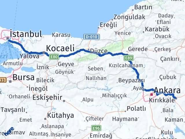 Kırıkkale Üsküdar İstanbul Arası Kaç Km? - Kmhesaplama.com Arası Kaç Km Saat? Nerede Yol Haritası Yakıt, Rota ve Mesafe Hesaplama