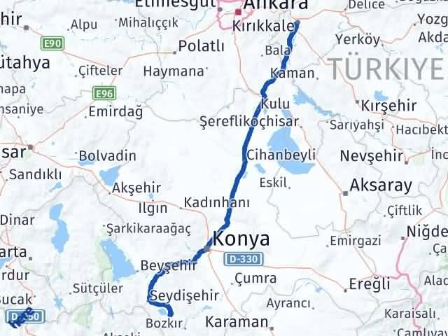 Kırıkkale Yalıhüyük Konya Arası Kaç Km? - Kmhesaplama.com Arası Kaç Km Saat? Nerede Yol Haritası Yakıt, Rota ve Mesafe Hesaplama