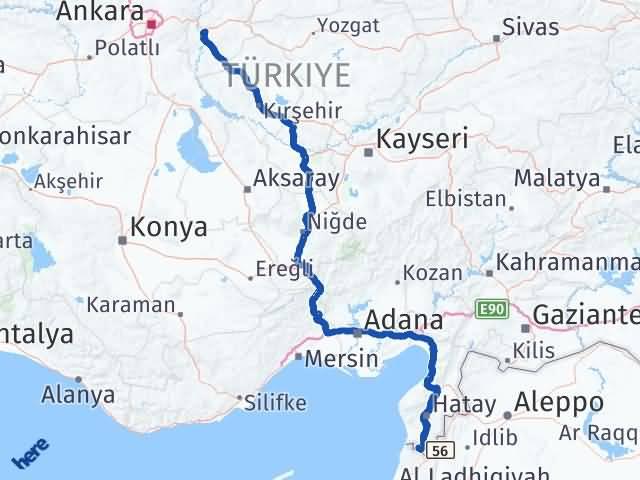 Kırıkkale Yayladağı Hatay Arası Kaç Km? - Kmhesaplama.com Arası Kaç Km Saat? Nerede Yol Haritası Yakıt, Rota ve Mesafe Hesaplama
