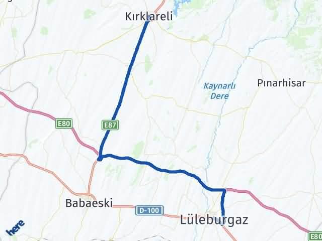 Kırklareli Lüleburgaz Arası Kaç Km? Yol Haritası - Km Hesaplama Arası Kaç Km Saat? Nerede Yol Haritası Yakıt, Rota ve Mesafe Hesaplama