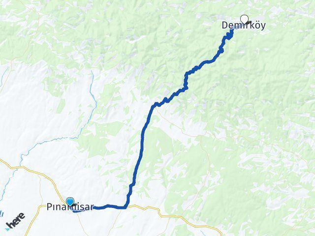 Kırklareli Pınarhisar Demirköy Arası Kaç Km? Arası Kaç Km Saat? Nerede Yol Haritası Yakıt, Rota ve Mesafe Hesaplama