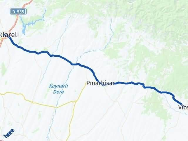 Kırklareli Vize Arası Kaç Km? Yol Haritası - Km Hesaplama Arası Kaç Km Saat? Nerede Yol Haritası Yakıt, Rota ve Mesafe Hesaplama