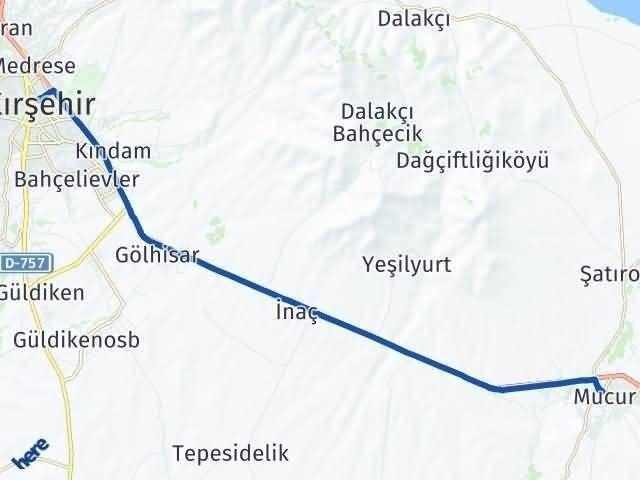 Kırşehir Mucur Arası Kaç Km? Yol Haritası - Km Hesaplama Arası Kaç Km Saat? Nerede Yol Haritası Yakıt, Rota ve Mesafe Hesaplama