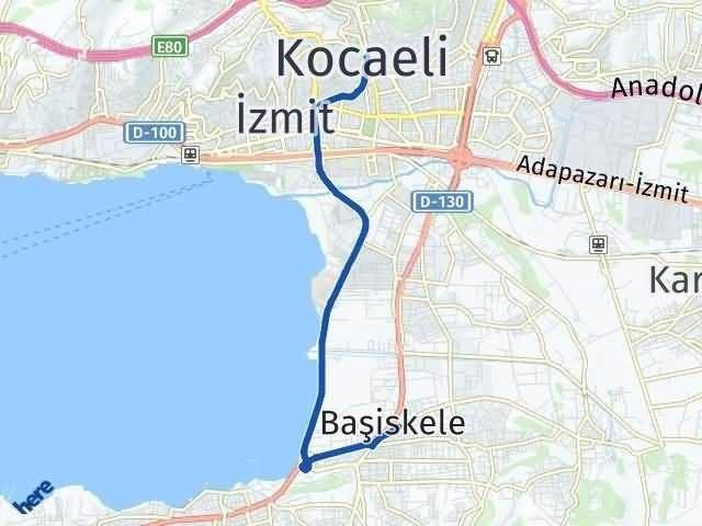 Kocaeli Başiskele Arası Kaç Km? Yol Haritası - Km Hesaplama Arası Kaç Km Saat? Nerede Yol Haritası Yakıt, Rota ve Mesafe Hesaplama