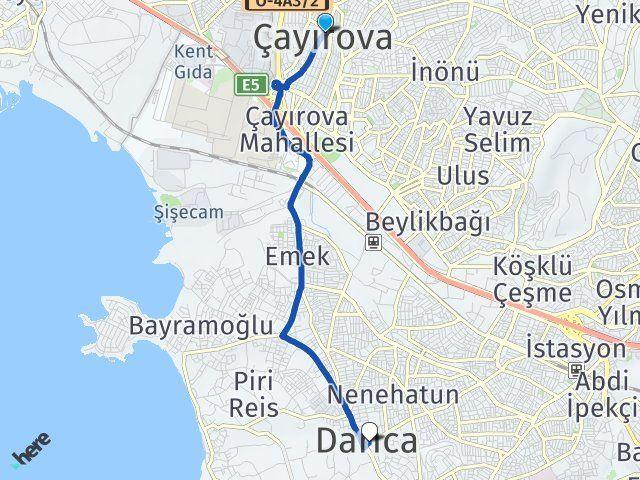 Kocaeli Çayırova Darıca Arası Kaç Km? Arası Kaç Km Saat? Nerede Yol Haritası Yakıt, Rota ve Mesafe Hesaplama