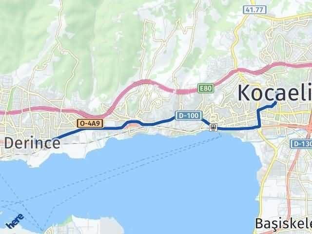 Kocaeli Derince Arası Kaç Km? Yol Haritası - Km Hesaplama Arası Kaç Km Saat? Nerede Yol Haritası Yakıt, Rota ve Mesafe Hesaplama