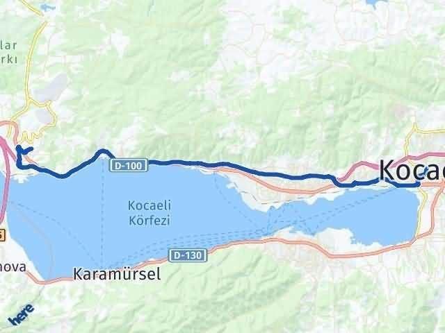 Kocaeli Dilovası Arası Kaç Km? Yol Haritası - Km Hesaplama Arası Kaç Km Saat? Nerede Yol Haritası Yakıt, Rota ve Mesafe Hesaplama
