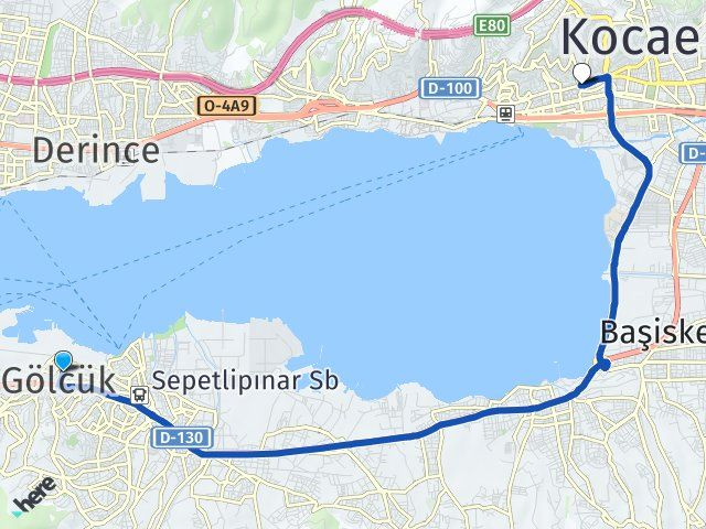 Kocaeli Gölcük İzmit Arası Kaç Km? Arası Kaç Km Saat? Nerede Yol Haritası Yakıt, Rota ve Mesafe Hesaplama