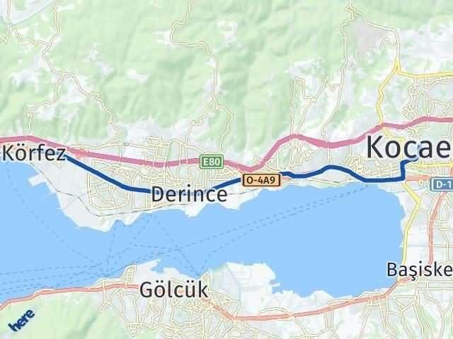 Kocaeli Körfez Arası Kaç Km? Yol Haritası - Km Hesaplama Arası Kaç Km Saat? Nerede Yol Haritası Yakıt, Rota ve Mesafe Hesaplama