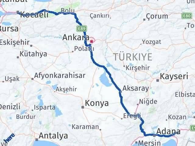 Kocaeli ile Osmaniye Arası Kaç Km? Kaç Saat? Arası Kaç Km Saat? Nerede Yol Haritası Yakıt, Rota ve Mesafe Hesaplama
