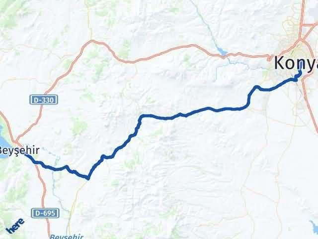 Konya Beyşehir Arası Kaç Km? Yol Haritası - Km Hesaplama Arası Kaç Km Saat? Nerede Yol Haritası Yakıt, Rota ve Mesafe Hesaplama