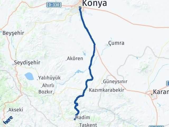 Konya Hadim Arası Kaç Km? Yol Haritası - Km Hesaplama Arası Kaç Km Saat? Nerede Yol Haritası Yakıt, Rota ve Mesafe Hesaplama