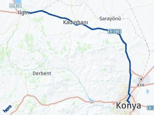 Konya Ilgın Arası Kaç Km Arası Kaç Km Saat? Nerede Yol Haritası Yakıt, Rota ve Mesafe Hesaplama