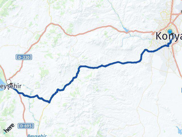 Konya Karatay Beyşehir Arası Kaç Km? Arası Kaç Km Saat? Nerede Yol Haritası Yakıt, Rota ve Mesafe Hesaplama
