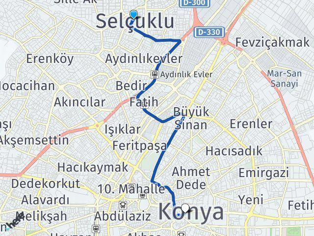 Konya Selçuklu Karatay Arası Kaç Km? Arası Kaç Km Saat? Nerede Yol Haritası Yakıt, Rota ve Mesafe Hesaplama