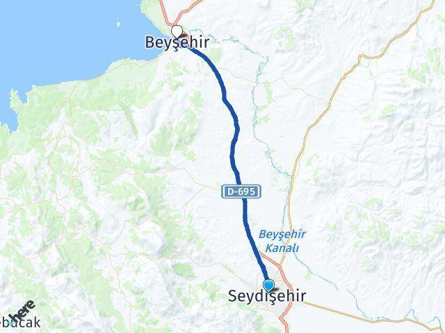 Konya Seydişehir Beyşehir Arası Kaç Km? Arası Kaç Km Saat? Nerede Yol Haritası Yakıt, Rota ve Mesafe Hesaplama