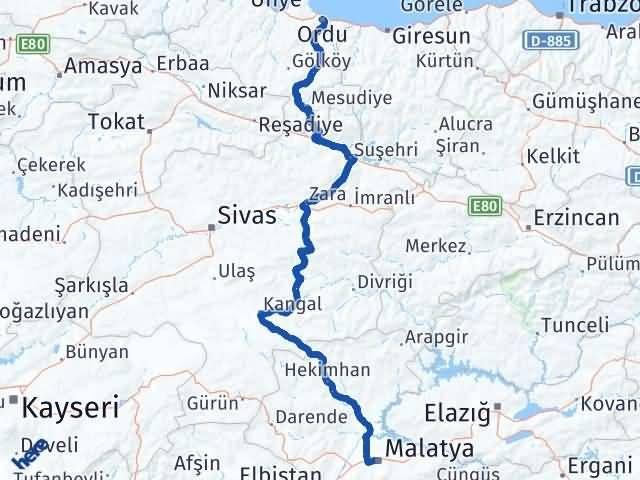 Malatya Altınordu Ordu Arası Kaç Km? - Kmhesaplama.com Arası Kaç Km Saat? Nerede Yol Haritası Yakıt, Rota ve Mesafe Hesaplama