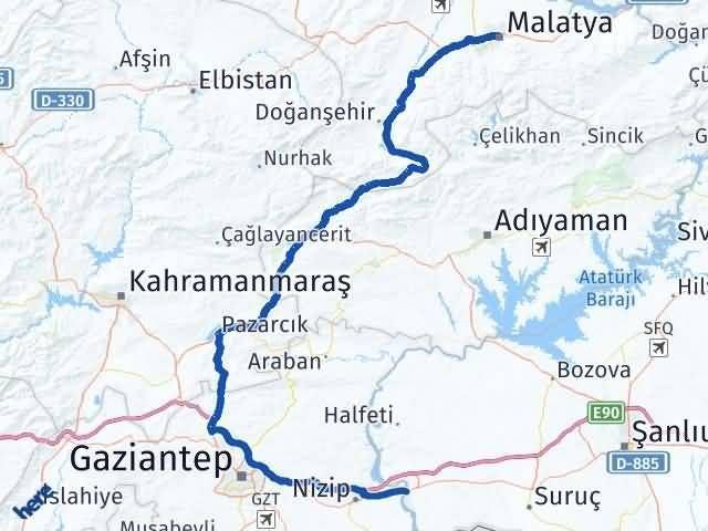 Malatya Birecik Şanlıurfa Arası Kaç Km? - Kmhesaplama.com Arası Kaç Km Saat? Nerede Yol Haritası Yakıt, Rota ve Mesafe Hesaplama