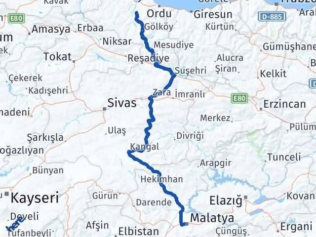Malatya Çamaş Ordu Arası Kaç Km? - Kmhesaplama.com Arası Kaç Km Saat? Nerede Yol Haritası Yakıt, Rota ve Mesafe Hesaplama