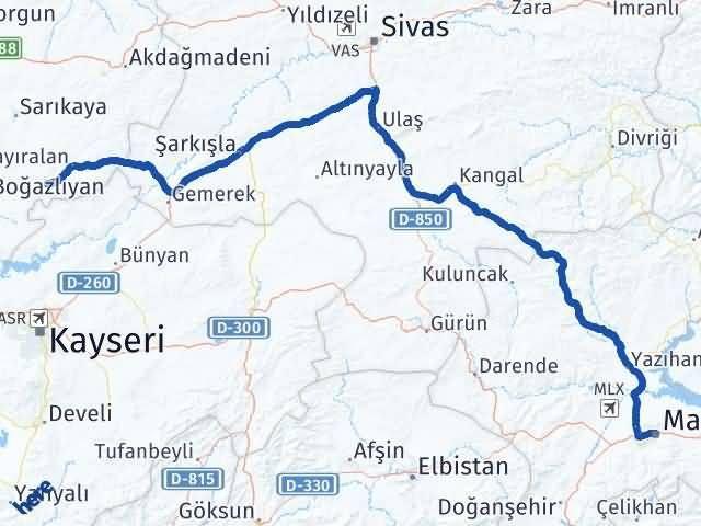 Malatya Çandır Yozgat Arası Kaç Km? - Kmhesaplama.com Arası Kaç Km Saat? Nerede Yol Haritası Yakıt, Rota ve Mesafe Hesaplama