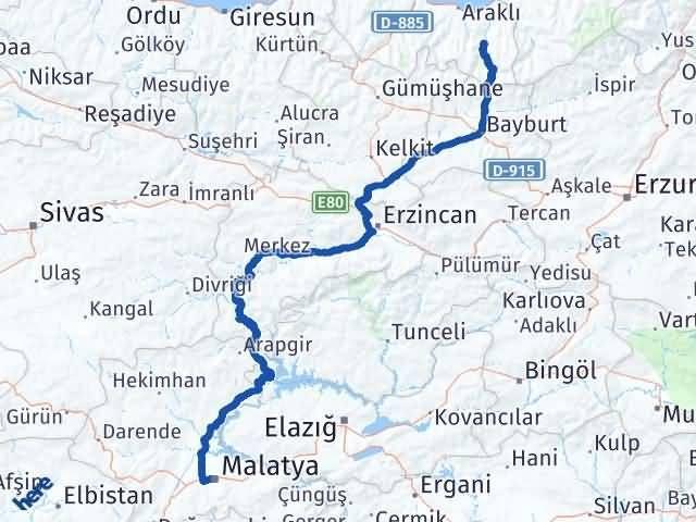 Malatya Çaykara Trabzon Arası Kaç Km? - Kmhesaplama.com Arası Kaç Km Saat? Nerede Yol Haritası Yakıt, Rota ve Mesafe Hesaplama