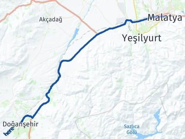 Malatya Doğanşehir Arası Kaç Km? Yol Haritası - Km Hesaplama Arası Kaç Km Saat? Nerede Yol Haritası Yakıt, Rota ve Mesafe Hesaplama