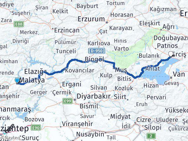 Malatya Erciş Van Arası Kaç Km? - Kmhesaplama.com Arası Kaç Km Saat? Nerede Yol Haritası Yakıt, Rota ve Mesafe Hesaplama
