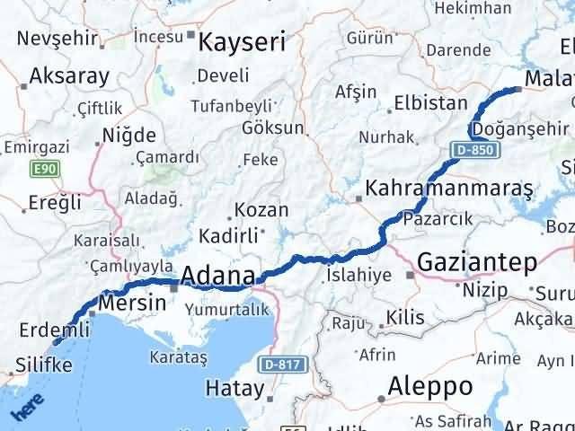 Malatya Erdemli Mersin Arası Kaç Km? - Kmhesaplama.com Arası Kaç Km Saat? Nerede Yol Haritası Yakıt, Rota ve Mesafe Hesaplama