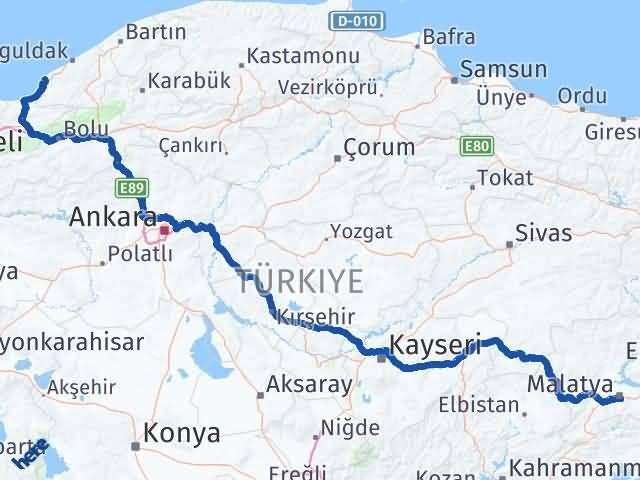 Malatya Ereğli Zonguldak Arası Kaç Km? - Kmhesaplama.com Arası Kaç Km Saat? Nerede Yol Haritası Yakıt, Rota ve Mesafe Hesaplama
