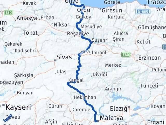 Malatya Fatsa Ordu Arası Kaç Km? - Kmhesaplama.com Arası Kaç Km Saat? Nerede Yol Haritası Yakıt, Rota ve Mesafe Hesaplama