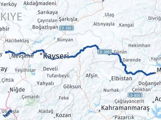 Malatya Gülşehir Nevşehir Arası Kaç Km? - Kmhesaplama.com Arası Kaç Km Saat? Nerede Yol Haritası Yakıt, Rota ve Mesafe Hesaplama