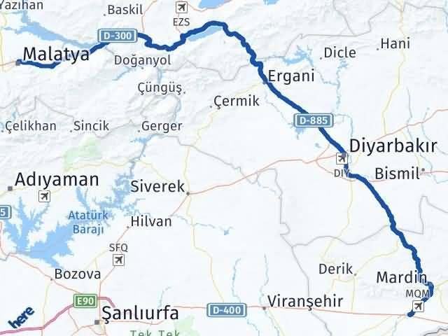 Malatya Kızıltepe Mardin Arası Kaç Km? - Kmhesaplama.com Arası Kaç Km Saat? Nerede Yol Haritası Yakıt, Rota ve Mesafe Hesaplama