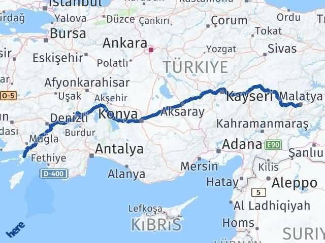 Malatya Marmaris Muğla Arası Kaç Km? - Kmhesaplama.com Arası Kaç Km Saat? Nerede Yol Haritası Yakıt, Rota ve Mesafe Hesaplama