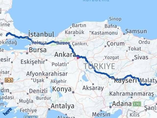 Malatya Muratlı Tekirdağ Arası Kaç Km? - Kmhesaplama.com Arası Kaç Km Saat? Nerede Yol Haritası Yakıt, Rota ve Mesafe Hesaplama