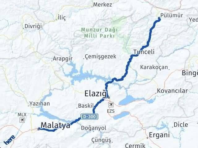 Malatya Pülümür Tunceli Arası Kaç Km? - Kmhesaplama.com Arası Kaç Km Saat? Nerede Yol Haritası Yakıt, Rota ve Mesafe Hesaplama