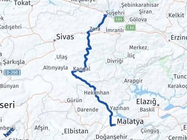Malatya Suşehri Sivas Arası Kaç Km? - Kmhesaplama.com Arası Kaç Km Saat? Nerede Yol Haritası Yakıt, Rota ve Mesafe Hesaplama