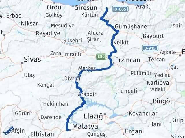 Malatya Tonya Trabzon Arası Kaç Km? - Kmhesaplama.com Arası Kaç Km Saat? Nerede Yol Haritası Yakıt, Rota ve Mesafe Hesaplama