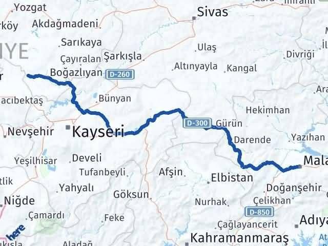 Malatya Yenifakılı Yozgat Arası Kaç Km? - Kmhesaplama.com Arası Kaç Km Saat? Nerede Yol Haritası Yakıt, Rota ve Mesafe Hesaplama