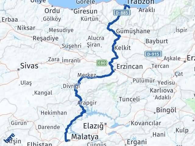 Malatya Yomra Trabzon Arası Kaç Km? - Kmhesaplama.com Arası Kaç Km Saat? Nerede Yol Haritası Yakıt, Rota ve Mesafe Hesaplama
