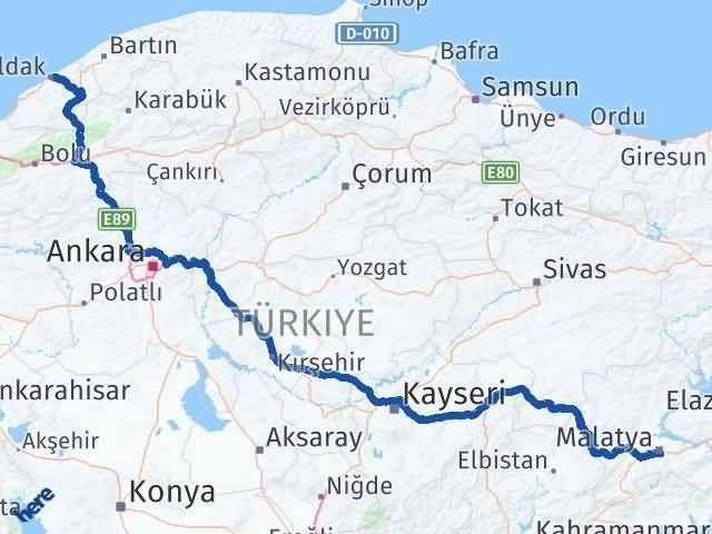 Malatya ile Zonguldak Arası Kaç Km? Kaç Saat? Arası Kaç Km Saat? Nerede Yol Haritası Yakıt, Rota ve Mesafe Hesaplama