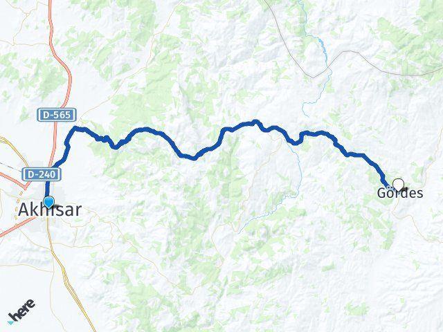Manisa Akhisar Gördes Arası Kaç Km? Arası Kaç Km Saat? Nerede Yol Haritası Yakıt, Rota ve Mesafe Hesaplama