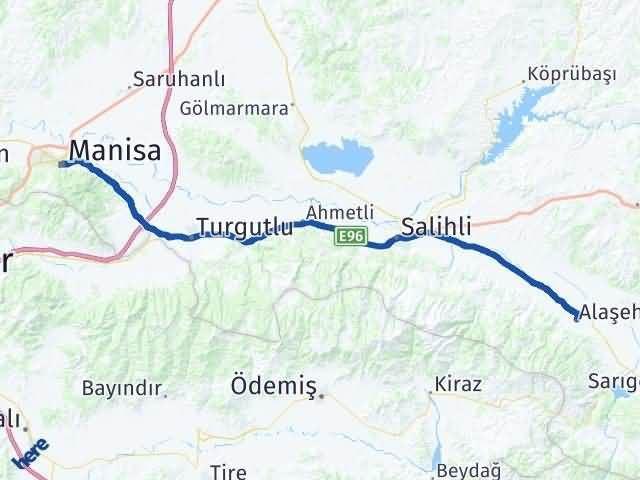 Manisa Alaşehir Arası Kaç Km? Yol Haritası - Km Hesaplama Arası Kaç Km Saat? Nerede Yol Haritası Yakıt, Rota ve Mesafe Hesaplama